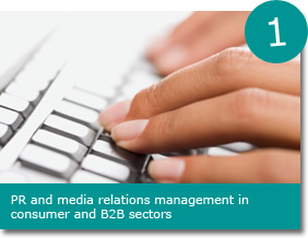 PR and media relations management in consumer and B2B sectors